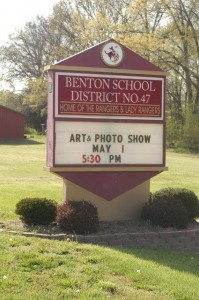 benton school sign
